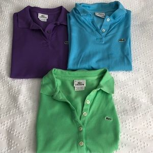 Lacoste polo: Lot of 3